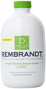 Rembrandt Deeply White Whitening Mouthwash with Fluoride Fresh Mint
