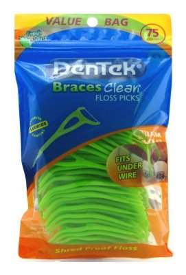 Dentek Floss Picks Braces Clean Fresh Mint
