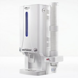White Mouthwash Dispenser Mini