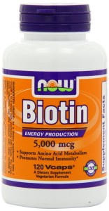 NOW Foods Biotin for Beard Growth 5000mcg, 120 Vcaps
