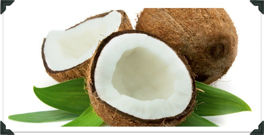open raw coconut