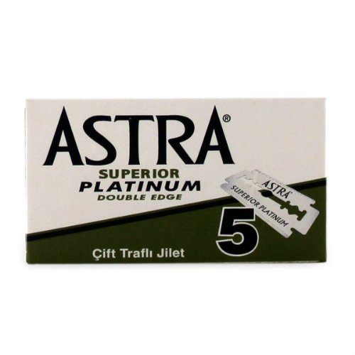 Astra superior premium platinum double edge safety razor blades