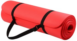 BalanceFrom GoYoga Yoga Mat with Carrying Strap