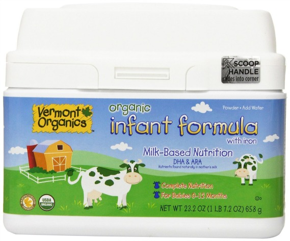 Vermont Organics Milk-Based Organic Infant Formula with Iron