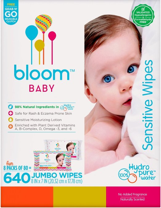 Bloom +Kind Jumbo Sensitive Baby Wipes