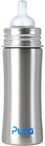 Pura Kiki 11-Ounce Stainless Steel Infant Bottle