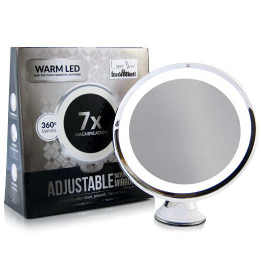 7x Magnifying Lighted Makeup Mirror by Upper West Collection