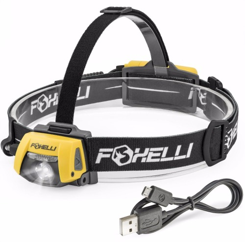 Foxelli USB Rechargeable Headlamp Flashlight Review