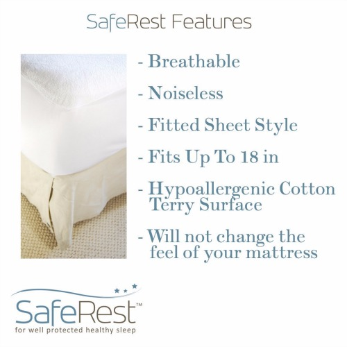 SafeRest Premium Hypoallergenic Waterproof Mattress Protector