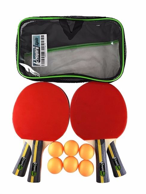 MightySpin Table Tennis Rackets & Balls Set