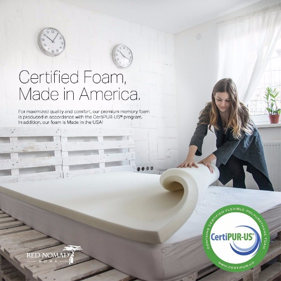 Red Nomad 2-inch Memory Foam Mattress Topper Review