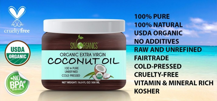 Sky Organics Extra Virgin Organic Coconut Oil Review