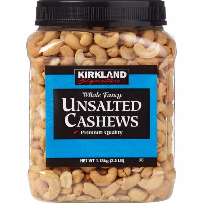 Kirkland Signature Unsalted Cashews Review