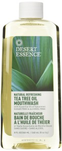 Desert Essence; Tea Tree Oil Mouthwash with Spearmint
