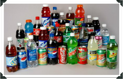 Sodas, Colas And Sports Drinks