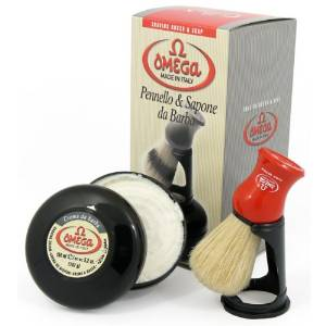 Omega 46065 Shaving Brush Set