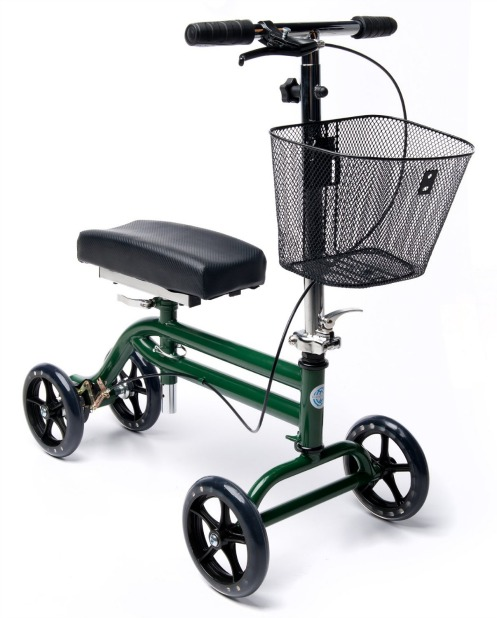 Knee Walker Turning Leg Walker Crutches Alternative in Green