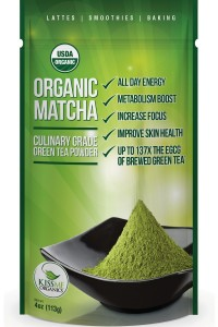 This is another organic Matcha green tea brand; it is sourced and made in Japan.