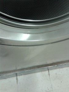 Dirty washer when you open the front door