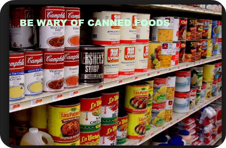 Be Wary of Canned Foods