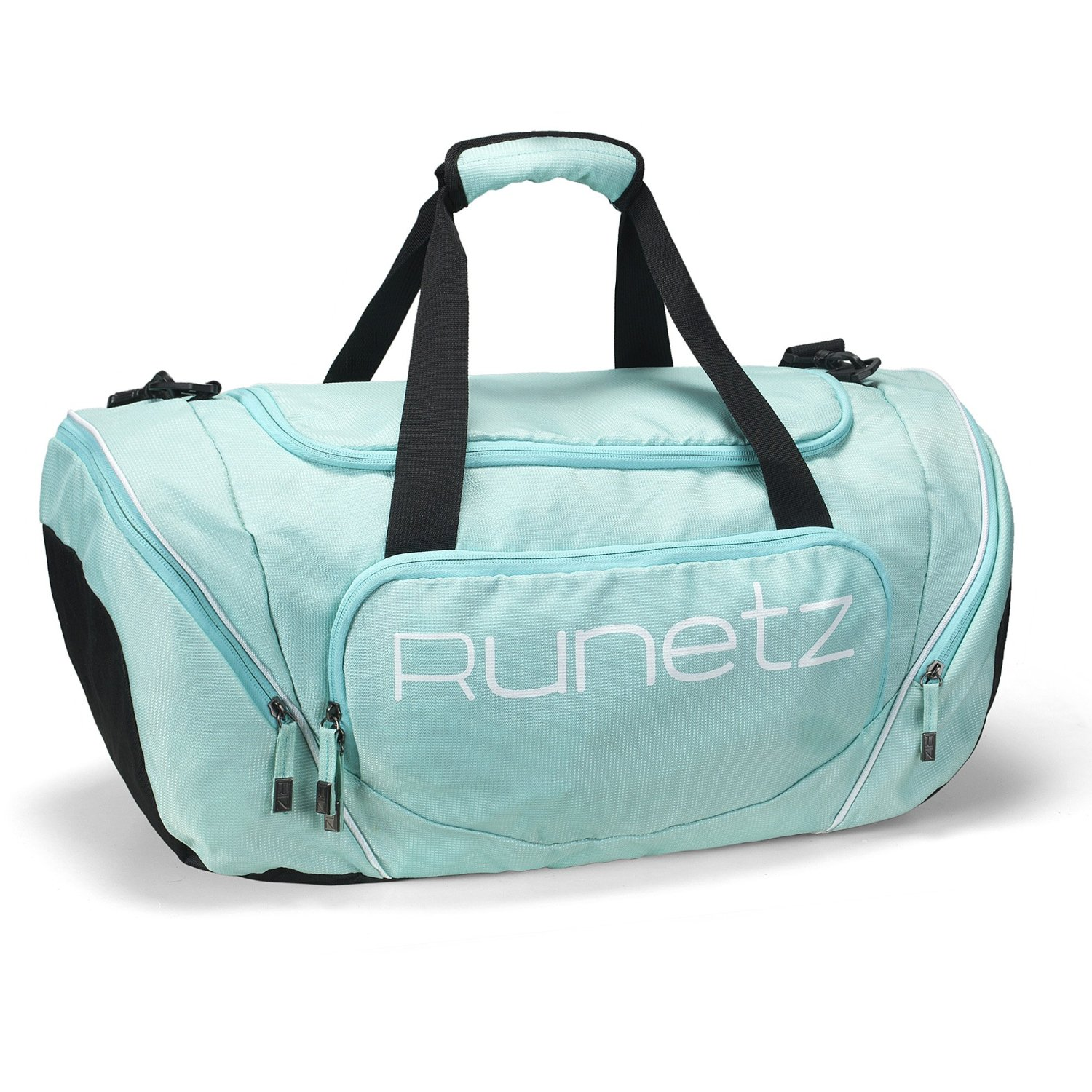 Runetz - TEAL Hot Blue Gym Bag Athletic Sport Shoulder Bag