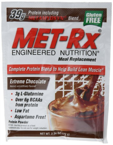 MET-Rx Meal Replacement powder boxed - Extreme Chocolate