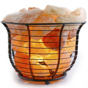 Crystal Allies Gallery Natural Himalayan Salt Wire Mesh Basket Lamp Review