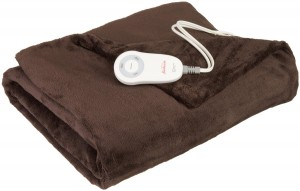 Sunbeam Microplush Heated Throw