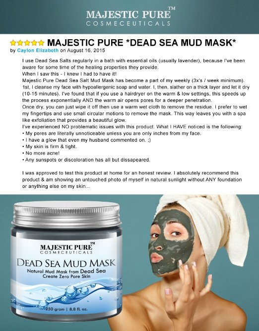 Majestic Pure Dead Sea Mud Mask Review