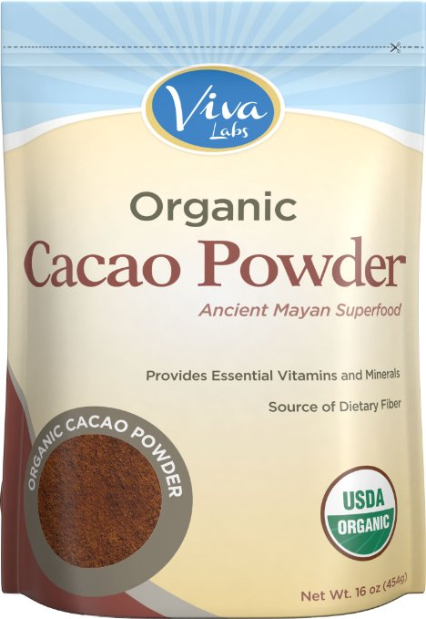 Viva Labs Certified Organic Cacao Powder