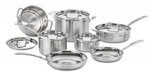 Cuisinart MultiClad Pro 12-Piece Cookware Set