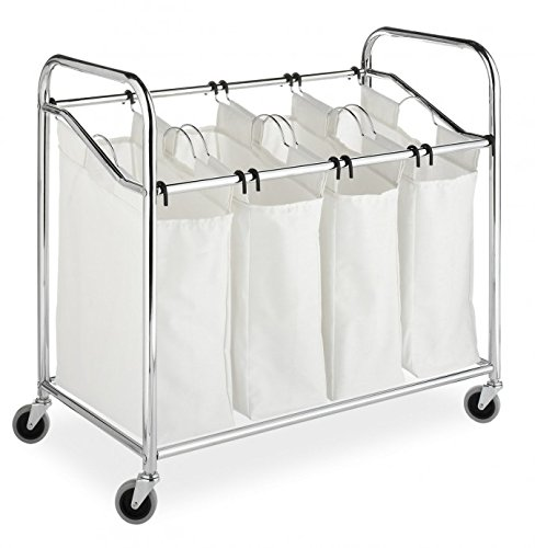 Whitmor Black 4-Section Laundry Sorter