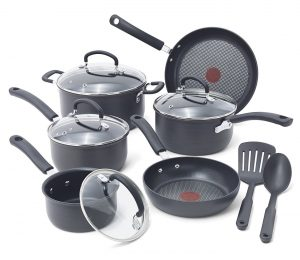 T-fal E765SC Ultimate Hard Anodized 12-Piece Cookware Set