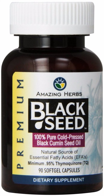 Amazing Herbs Cold-Pressed Black Seed Oil