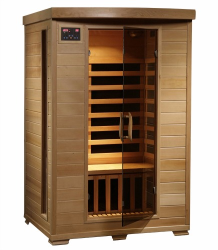 Two-Person Hemlock Deluxe Infrared Sauna from Radiant Saunas