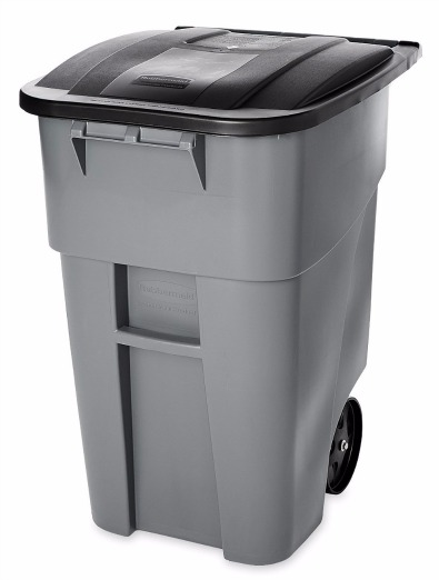 Rubbermaid Commercial Brute Recycler Rollout Trash Can Review