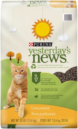 Purina Yesterday's News Unscented Cat Litter Review