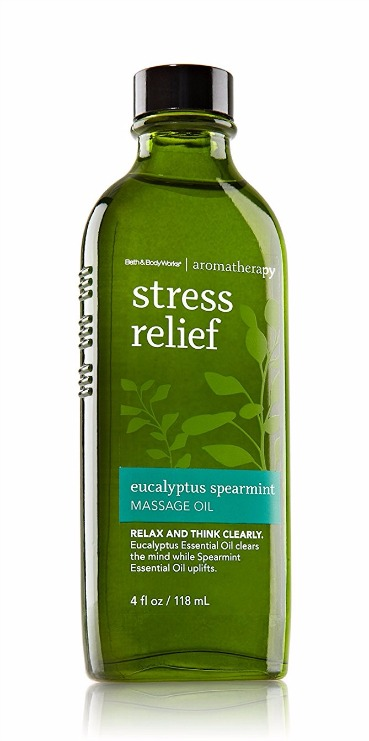 Bath & Body Works Aromatherapy Stress Relief Eucalyptus Spearmint Massage Oil Review